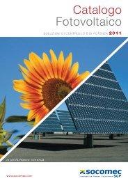 Catalogo Fotovoltaico - Gruppo SOCOMEC