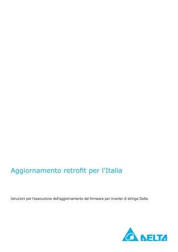 Aggiornamento retrofit per l'Italia - Delta Energy Systems