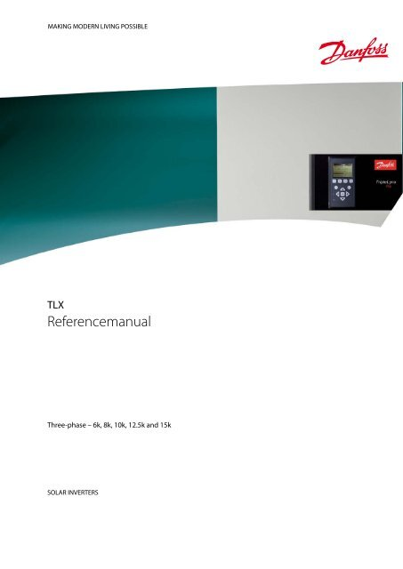 Danfoss TLX Referencemanual - Dansk Solcelle