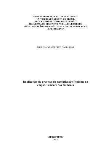 Meirelaine Gasparoni - Água, Mulheres e Desenvolvimento - Ufop