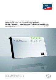 SUNNY WEBBOX con Bluetooth® Wireless Technology - SMA Solar ...