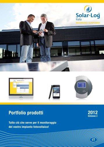 Portfolio prodotti 2012 - Tecnolario