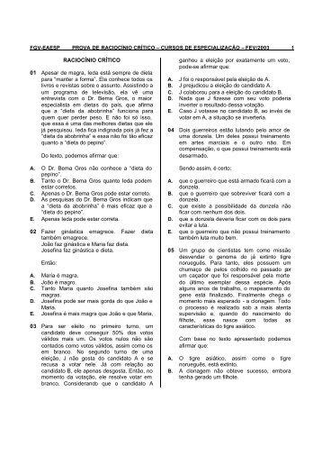 Rac. Crítico - FGV-Eaesp