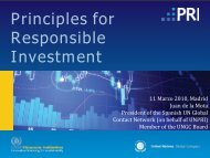 Principles for Responsible Investment - Europa