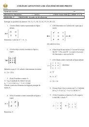Entregar as questões de número: 10, 11, 13, 14, 15, 16, 17, 19, 20 e ...