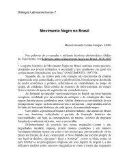 O Negro no Brasil - Latin American Centre