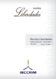 Revista Liberdades - Instituto Brasileiro de Ciências Criminais