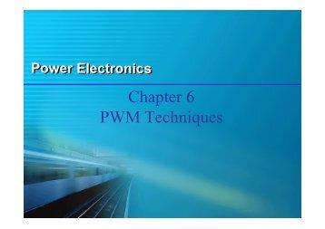 Chapter 6 PWM Techniques
