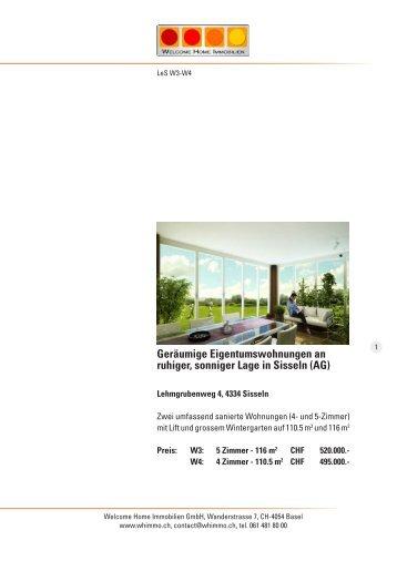 Geräumige Eigentumswohnungen an ruhiger, sonniger Lage in ...