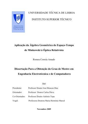 UNIVERSIDADE TÉCNICA DE LISBOA INSTITUTO SUPERIOR ...