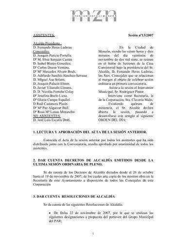 ASISTENTES - Ayuntamiento de Monzón