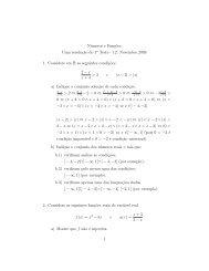Números e Funções Uma resolução do 1o Teste - 12. Novembro ...