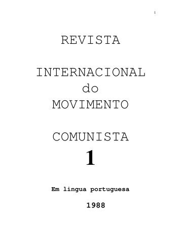 REVISTA INTERNACIONAL do MOVIMENTO COMUNISTA - ROBIN ...