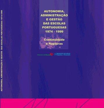 Autonomia, Administração e Gestão das Escolas Portuguesas - 1974
