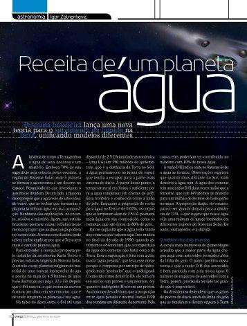 Receita de um planeta água - Portal do Professor