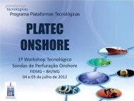 1º Workshop Tecnológico Sondas de Perfuração Onshore - ONIP