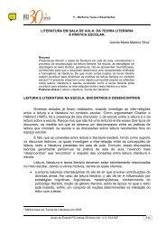LITERATURA EM SALA DE AULA: DA TEORIA LITERÁRIA À ...