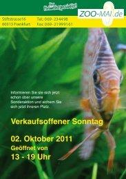 Verkaufsoffener Sonntag 02. Oktober 2011 13 - 19 Uhr - Zoo Mai