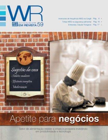 Setor de alimentação resiste a crises e prospera investindo ... - Weg