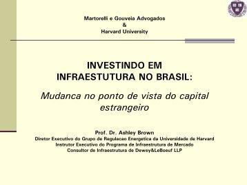 INVESTINDO EM INFRAESTUTURA NO BRASIL - Harvard University