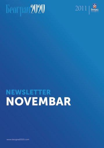 newsletter novembar 2011 - Beograd 2020