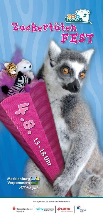 Flyer zum Zuckertütenfest - Zoo Rostock