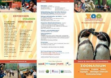 Zoonarium Flyer - Zoo Rostock