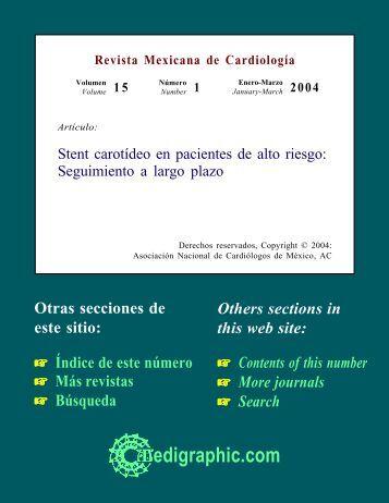 Stent carotídeo en pacientes de alto riesgo ... - edigraphic.com