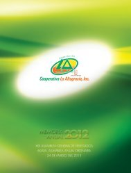 Informe Anual 2012 disponible (PDF 13.2MB) - Cooperativa La ...