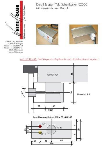 Detail Teppan Yaki Schaltkasten E2000 Mit ... - White House