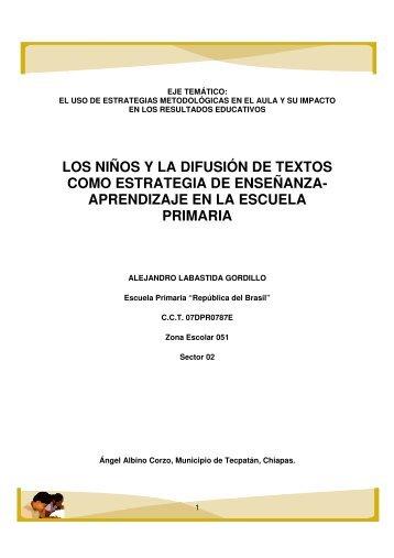 los niños y la difusión de textos como estrategia de enseñanza