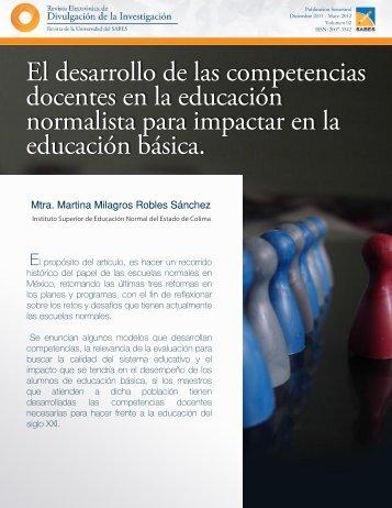 El desarrollo de las competencias docentes en la ... - Sabes