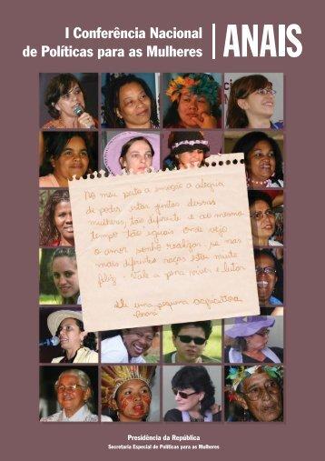 Anais da I Conferência Nacional de Políticas para as Mulheres