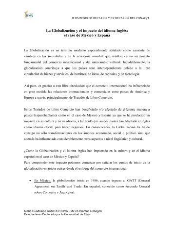 La Globalización y el impacto del idioma Inglés: el caso de México y ...