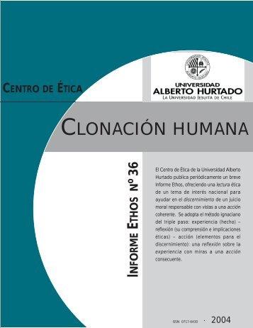 CLONACIÓN HUMANA - Universidad Alberto Hurtado