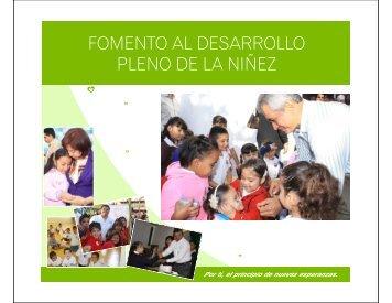 Fomento al Desarrollo Pleno de la Niñez - DIF Estatal Colima