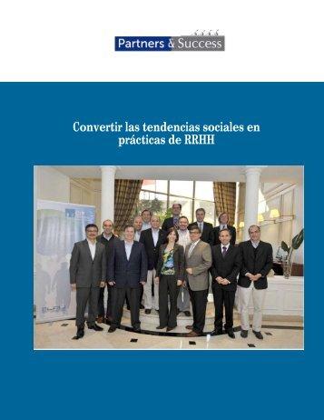 Convertir las tendencias sociales en prácticas de RRHH - Partners ...