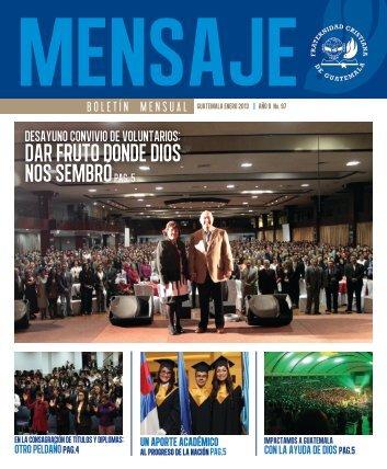Boletín Mensaje Enero 2013 - Fraternidad Cristiana de Guatemala