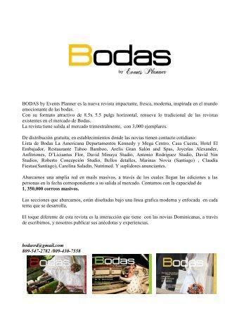 BODAS by Events Planner es la nueva revista impactante, fresca ...