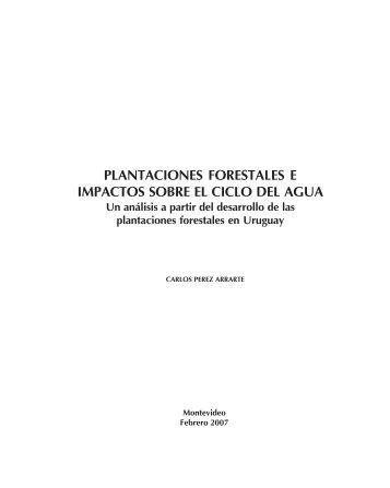 Plantaciones forestales e impactos sobre el ciclo del agua. Un ...