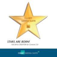 Broschüre CONET Media Suite - Whitecoast Solutions AG