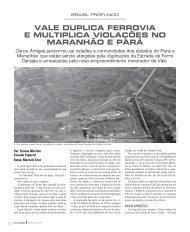 Vale duplica ferroVia e multiplica Violações no maranhão e parÁ