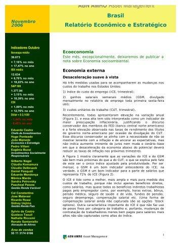 Relatório Mensal sobre Economia Socioambiental ... - FAAP