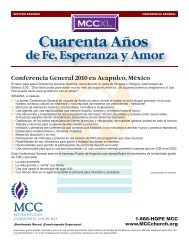 Cuarenta Años de Fe, Esperanza y Amor - icmmccregion6.org