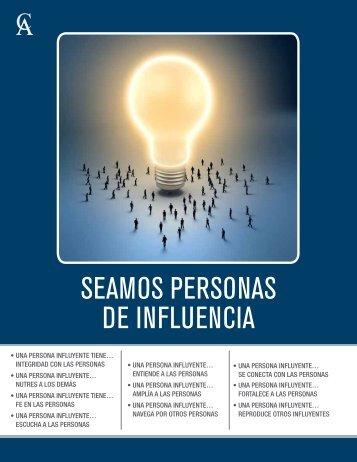SEAMOS PERSONAS DE INFLUENCIA