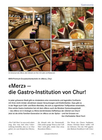 Merz Bäckerei, Konditorei, Confiserie - wiba-ag.ch Home