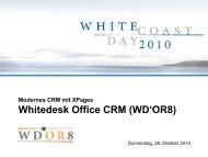 Whitedesk Office CRM - Whitecoast Solutions AG