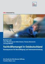 Fachkräftemangel in Ostdeutschland - Otto Brenner Shop