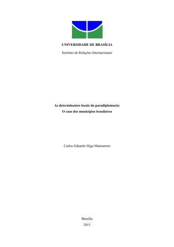 As determinantes locais da paradiplomacia: o caso dos municípios ...