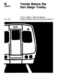 Trends Before the San Diego Trolley - National Transportation Library